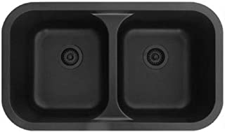 Quartz Q-350 Undermount Double Equal Bowl - Black