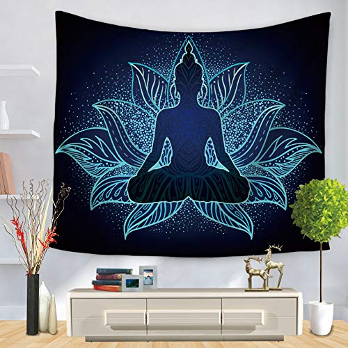 SKYROPNG Tapestries Wall Hanging,Bohemian Mandala Psychedelic Hippie Tapestry,Mysterious Buddha,3D Print Wallpaper Mural,for Bedroom Dorm Living Room Multifunction Decoration,100Cm X 150Cm