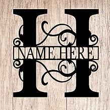 AJD Designs Personalized Last Name H Door Hanger - 20