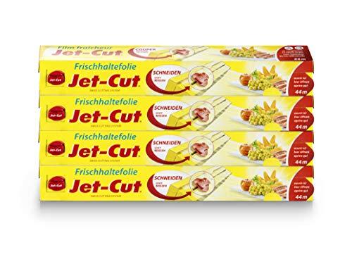 Film alimentaire Jet-Cut à découper, format consommateur 30 cm x 44 m, transparent, conditionnement de stockage de 4 pièces par lot