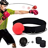 DYBOHF Reflex Fightball, Boxen Training Ball, Fitness Punch Boxing Ball mit Kopfband, Boxentraining Trainin