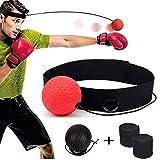 DYBOHF Balle de Combat, Reflex Ball avec Bandeau de Tête, Ballon de Boxe pour La Formation de Vitesse Réflexe Punch Exercice Entraînement Combat Améliore Votre Vitesse, Coordination, Vos Réflexes