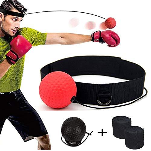 DYBOHF Reflex Boxing Ball, Palla Boxe riflessi, Migliorare Le reazioni di velocità e la coordinazione Occhio Mano, Migliora Precisione/velocità Riflessi, MMA e Kickboxing