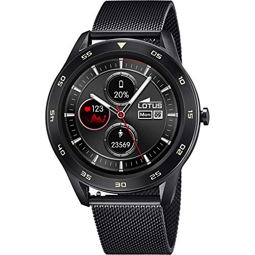 Lotus 50010/1 Smartime Smart Watches Uhr Herrenuhr 10 bar Digital Datum Schwarz