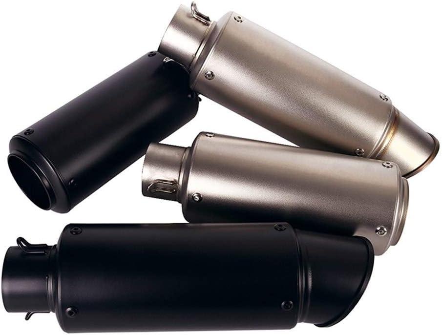 De escape de la motocicleta 51mm Silenciador Silenciador DB Consejos de tuber/ías for Universal Ninja 300 CB300R YZF-R25 R3 Z900 Z1000 Color : A