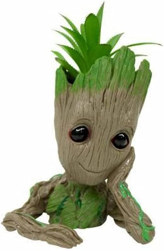Ranking TOP11 Baby Groot Flower Pot Tree with Plants Man H Drainage New color