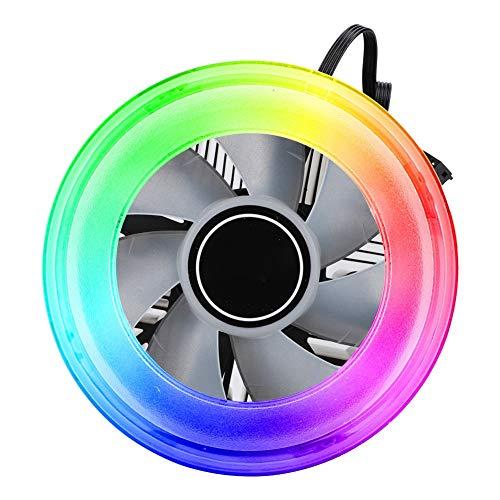 Bewinner Colorido Streamer Versión Disipador de Calor de CPU,Enfriador de Refrigeración de Carcasa, Enfriador de Refrigeración para Ordenador Enfriar la Temperatura de la CPU