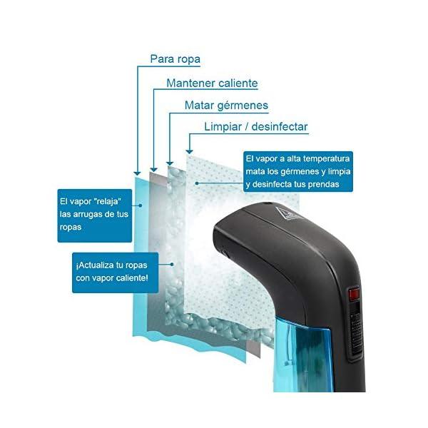 Nigecue Plancha de Vapor Planchas Ropa portatil Desinfecta Vapor Doble