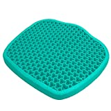 2021 New Gel Seat Cushion for Office Chair Desk Chair Car Seat, Pressure Relief Large Size Gel Chair Cushion, Ergonomic Design, Sciatica & Back Tailbone Pain Relief(Green)