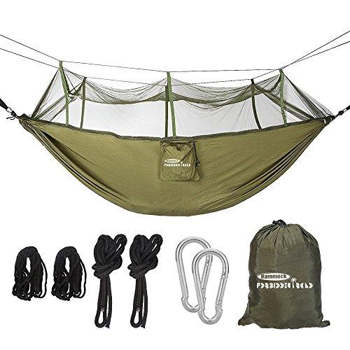 Forbidden Road Camping Hammock Single & Double Net Hammock Capacity 330lbs Lightweight Portable...