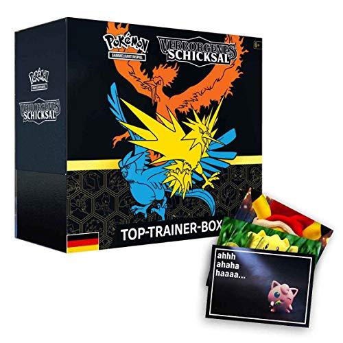 Lively Moments Pokemon Karten Sonne & Mond SM11.5 Verborgenes Schicksal Top-Trainer-Box DE Deutsch Sammelkarten