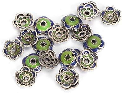 Cuentas de flores, 20 piezas de cuentas de pulsera, toro de flores para pulsera apilable, fabricación de joyas, fabricación artesanal, collar de joyas, accesorios de bricolaje