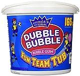 Dubble Bubble 165 Count Tub Bubble Gum