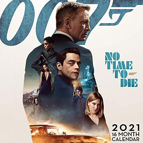 empireposter James Bond - Film Kalender 2021 - Größe 30x30 cm