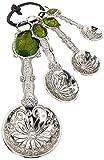 Ganz 4-Piece Measuring Spoons Set, Turtle , silver