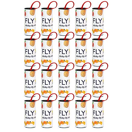 Fruit Fly Traps-20 PCS, Sticky Fly Strips,Fly Ribbons, Bug&Insect Catcher for Indoor and Outdoor Use