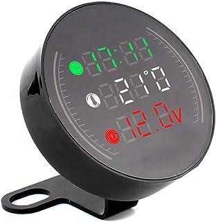 Mialian Thermometer 3 En 1 für Motorrad mit LED