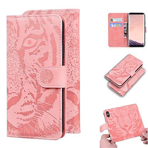 LODROC Galaxy S8+ (S8 Plus) Hülle, TPU Lederhülle Magnetische Schutzhülle [Kartenfach] [Standfunktion], Stoßfeste Tasche Kompatibel für Samsung Galaxy S8+ /G955F - LOTX0200282 Rosa Gold