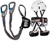 Juego de vía de escalada LACD Ferrata Pro + correa LACD Start + casco Salewa Toxo (M)