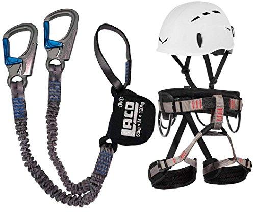 Set per arrampicate, LACD Ferrata Pro Evo, con cinghia LACD per principianti, casco Salewa Toxo incluso