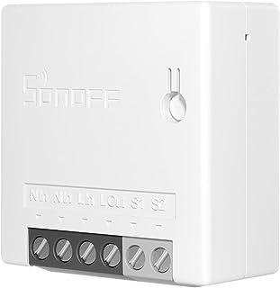 Adaskala Mini DIY Smart Switch 2-weg afstandsbediening kleine wifi switch ondersteuning een externe schakelaar werkt met H...