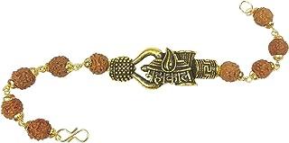 Utkarsh Adjustable Stylish Trending Brown Beads Rudraksha Mala Chain Om Mahadev Bolenath Mahakaal Lord Shiva Trishul With ...