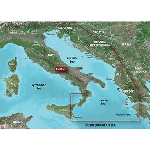 Garmin BlueChart g3 Seekarte Region Europa, Abdeckungsbereich HXEU014R - Adria, Kartengröße Regular
