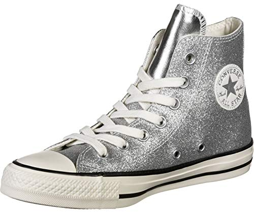 Converse Chuck Taylor All Star Shiny Metal HI Sneaker Damen Silbern - 36 - Sneaker High