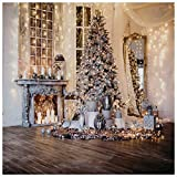 WOLADA 10x10ft Christmas Backdrops for Photography Christmas Tree Photography Backdrops Vinyl Christmas Photo Backdrop Studio Props 11715