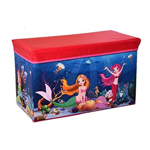 Caja de juguetes para niños, dormitorio, taburete, contenedor para juguetes, organizador de juegos,