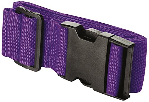 Travel Adjustable Luggage Suit case Strap for Holiday Different Colours (Purple)