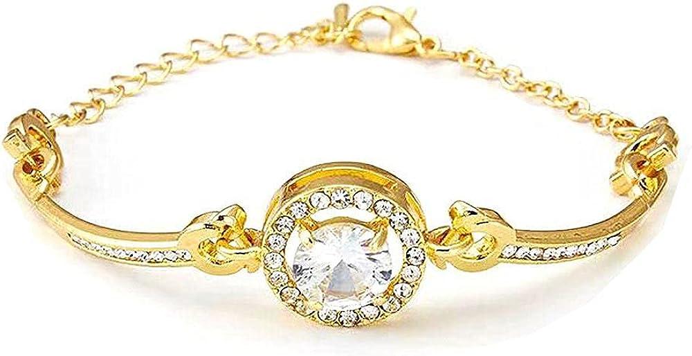 crystal jewelry, preppy jewelry, rose gold bracelet, New Personality Noble Rhinestone Charm Bracelets Golden Rose Gold Married Bracelet Women bracelets for girls Fashion Jewelry chain bracelet for
