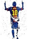 Kai'Sa Lionel Messi Figure Poster Art Print...