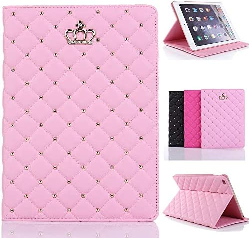 Topwin Crown Bling Case for iPad 9 7 2018 2017 iPad Air 2 1 Case Crown Cute Elegant PU Leather product image