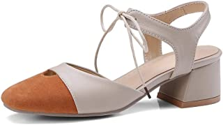 BalaMasa Womens ASL06468 Imitated Suede Block Heels