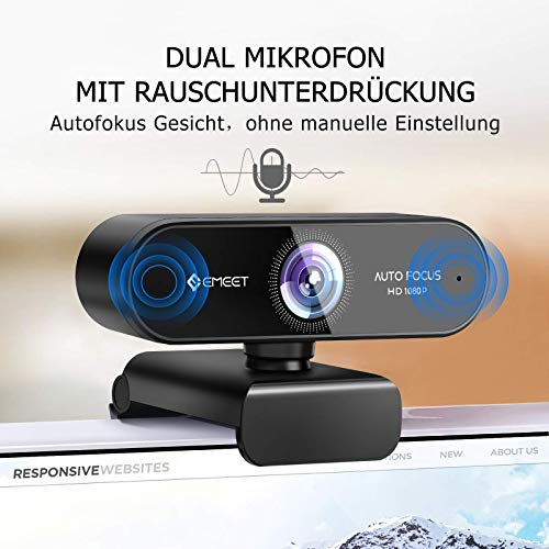 eMeetNOVA 1080pWebcam mit Dual Mikrofon