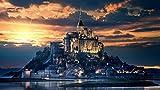 XJLAC Rompecabezas 1000 Piezas Adultos Niños Rompecabezas DIY Mont Saint-Michel Francia Rompecabezas de Madera Decoración Moderna para el hogar Festival Regalo Juego Intelectual Arte de la Pared