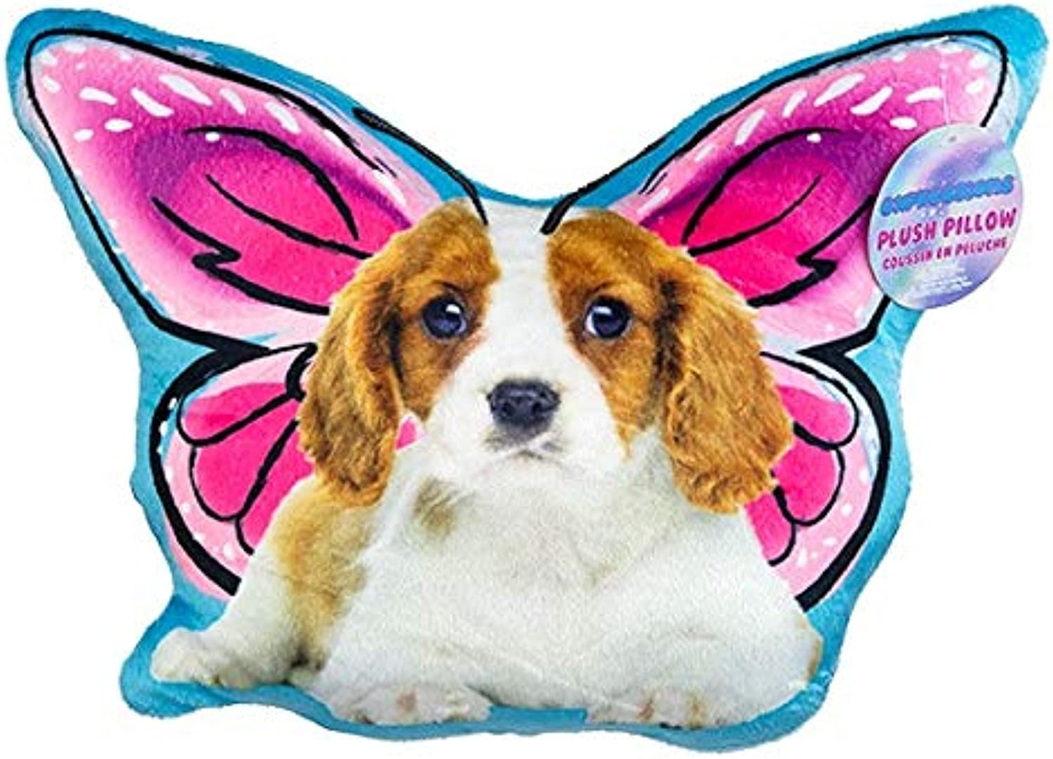 Expressions Soft Cuddly Novelty Butterfly Dog Throw Pillows Fun for Girls Boys Tweens Teens Kids (PupperFly)