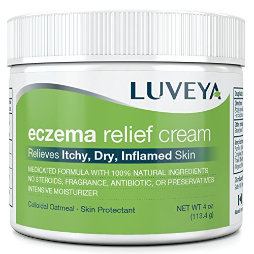 Eczema & Dermatitis Cream for Dry, Itchy, Cracked Skin Relief. Best Moisturizer Lotion for Face, Body & Scalp Rashes. 100% Natural Baby & Adult Remedy. Soothes Irritated Skin Without Greasy Ointment