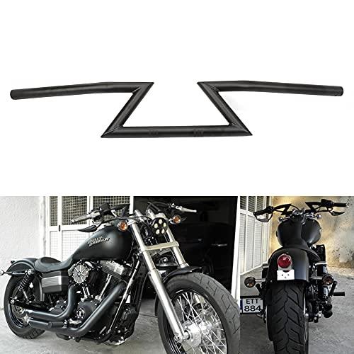 """Manillar de la motocicleta Z barras 22mm 7/8 """"arrastre manillar universal para Sportster Cruiser XL 883 1200 Custom Chopper Softail Dyna Street Bob Negro"""