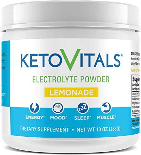 Keto Vitals Electrolyte Powder   Keto Friendly Electrolytes with Potassium, Magnesium, Sodium & Calcium   Keto Electrolytes Supplement Energy Drink Mix   Zero Calorie   Zero Carb   Sugar Free
