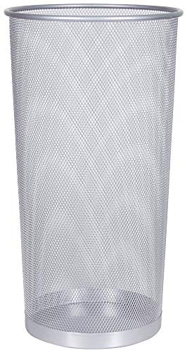 Paragüero Q-Connect KF00828, de alambre de metal, color plateado