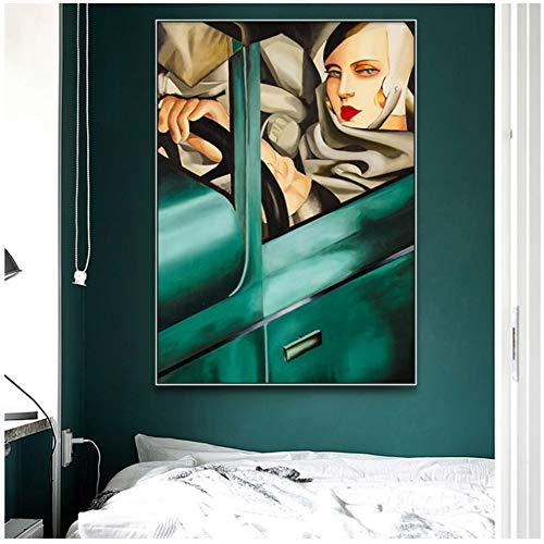 A&D Tamara De Lempicka Künstler Klassische Kunstwerk Reproduktion Plakate und Drucke Leinwand Kunst Gemälde Wandbilder für Heimtextilien-60x85cm ohne Rahmen
