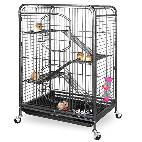 SUPER DEAL 37'' Small Animal Cage for Ferret/Squirrel/House Cat/Bunny/Chinchilla/Guinea Pig/Sugar Glider or Other Small Animals