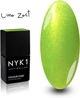 Lime Green Nail Gel Polish - (Lime Zest) Shimmer Bold Light Greeny LED UV Gel Nail Polish Spring Summer NYK1 Nailac for Gel Nail Lamps Best Professional Polishes