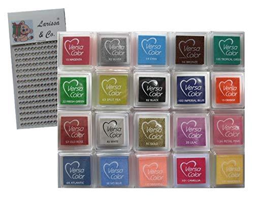 Versacolor Stempelkissen, klein, 20 Stück, verschiedene Farben