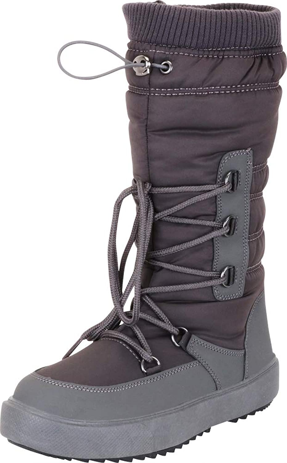 Cambridge Select Women's Quilted Puffer Drawstring Lace-Up Mid-Calf Winter Snow Boot