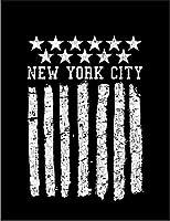 【FOX REPUBLIC】【星条旗 アメリカ ニューヨーク】 黒光沢紙(フレーム無し)A3サイズ