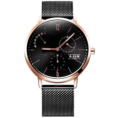 Reloj Digital para Hombre Reloj Deportivo Informal Reloj con Esfera de Acero Inoxidable -C