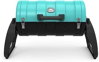 Xuejuanshop Portable BBQ Charcoal Grill Parrilla portátil al Aire Libre Hogar for más de 5 Personas Parrilla de carbón Herramientas de Barbacoa Salvaje Portable BBQ Charcoal Grill (Color : Blue)